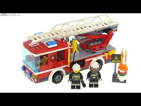 Lego City 2016 Fire Ladder Truck Review 60107 Youtube