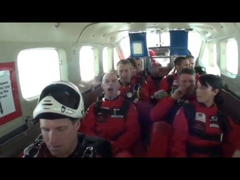 Larry Gott's Red Devil charity SkyDive