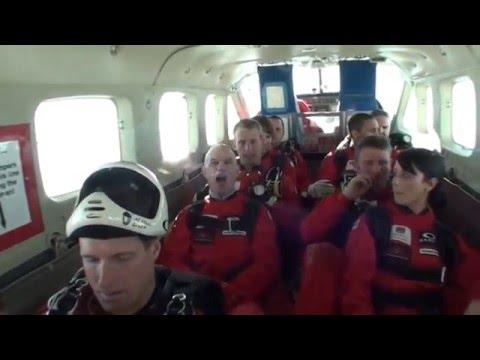 Larry Gott's Red Devil charity SkyDive