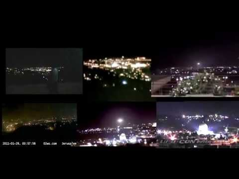 PROOF OF JERUSALEM EVENT, 6 WITNESS VIDEOS (with government weather camera)