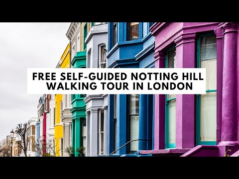 NOTTING HILL WALKING TOUR IN LONDON | Portobello Road Market, Notting Hill Gate, and Colorful Houses