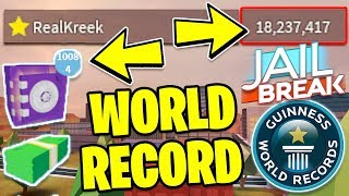 BREAKING Roblox Jailbreak!! *WORLD RECORD!?* | Jailbreak Safe Auto Clicker