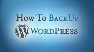 Free WordPress BackUp Plugin - How To Video