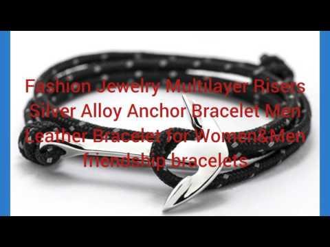 Buy Designer Jewellery Online- Alloy Anchor Bracelet for Women