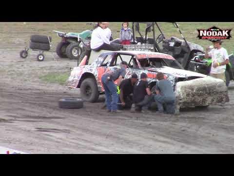 Nodak Speedway IMCA Hobby Stock A-Main (7/4/18)