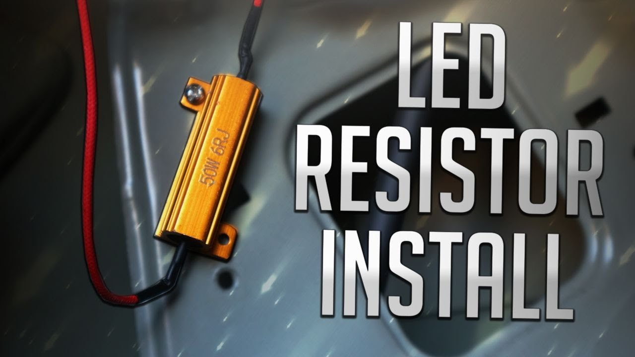 How To Fix Hyper Flash Load Resistor Install Youtube Wiring Indicator Resistors