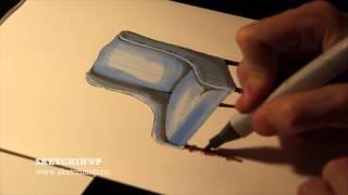 Интерьерный скетчинг - рисуем кресло(Курс