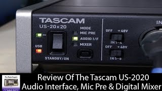 Review - Tascam US 2020 Interface Mic Pre & Digital Mixer