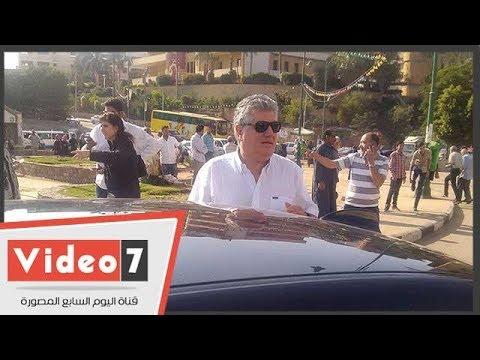 عبد الحكيم عبد الناصر أبرز الحاضرين فى تشييع جثمان الإذاعى أحمد سعيد  - 20:22-2018 / 6 / 5