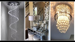EASY + INEXPENSIVE CRYSTAL CHANDELIER REVAMP| FALL ENTRYWAY DECORATING IDEAS
