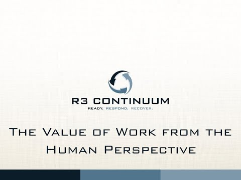 The Value of Work from the Human Perspective