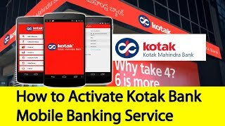 How to Activate Kotak Bank Mobile Banking | Tamil Banking