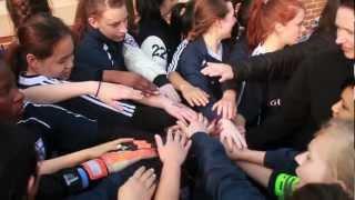 yiss varsity girls soccer 2011 12 peprally video