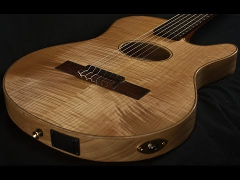 buscarino starlight nylon string acoustic electric guitar youtube. Black Bedroom Furniture Sets. Home Design Ideas