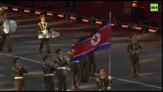 North Korean army band performs at Moscow's Red Square