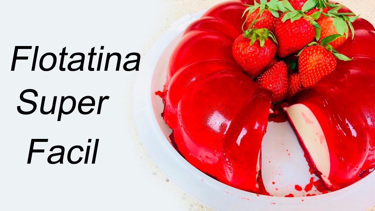 Gelatina Flotatina de Fresa con Queso Crema - Acomerpe.com