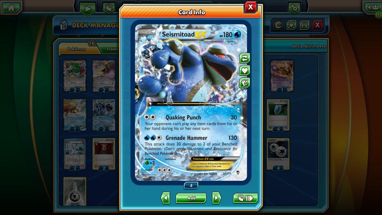 Pokémon TCG Online - Bronzong/Seismitoad-EX Deck! - YouTube