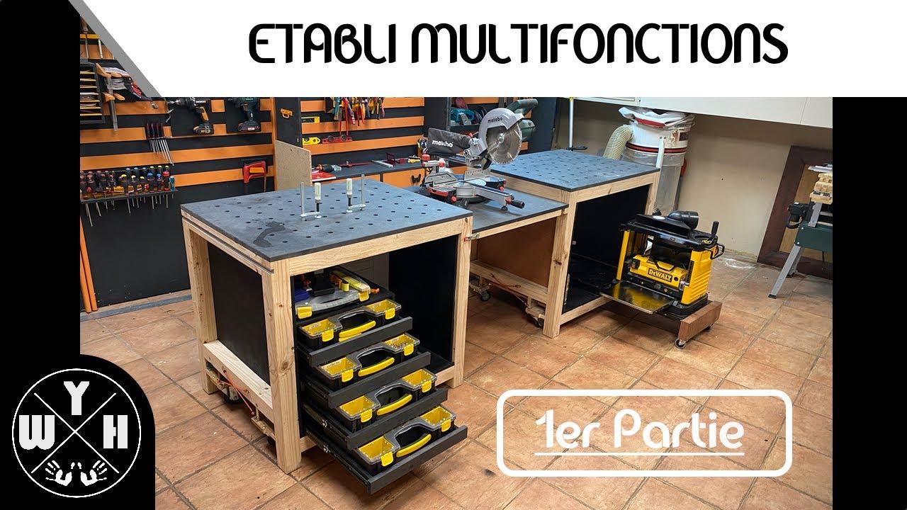 Construire Un Etabli Multifonction #diy - fabriquer son etabli multifonctions - partie 1