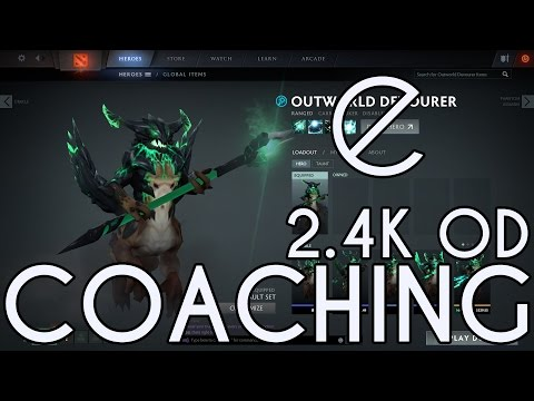 Dota 2 ecko Coaching 2.4K OD, Map pressure, some general matchmaking theory as well