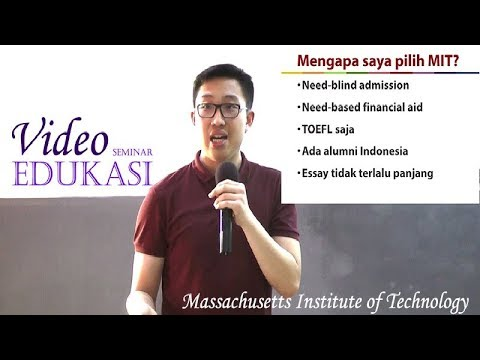 Kuliah di MIT (Massachusetts Institute of Technology) Video Seminar Edukasi oleh Wilson Gomarga