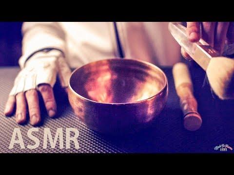 [ASMR Binaural] Tibetan Singing Bowl & Ear Brushing - No Talking
