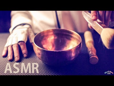 [ASMR] Tibetan Singing Bowl & Ear Brushing - NO TALKING