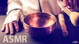 [ASMR] Focus Tibetan Singing Bowl & Ear Brushing - NO TALKING