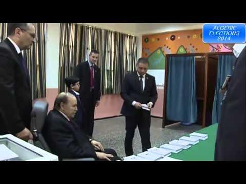 le président Bouteflika vote en fauteuil roulant Algérie: 17/04 éléction 2014