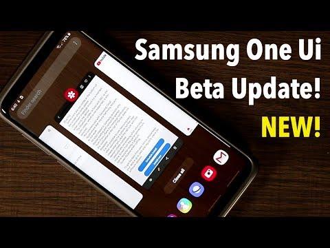 Samsung One Ui Beta 5 running on Galaxy S9 Plus Android Pie 9.0
