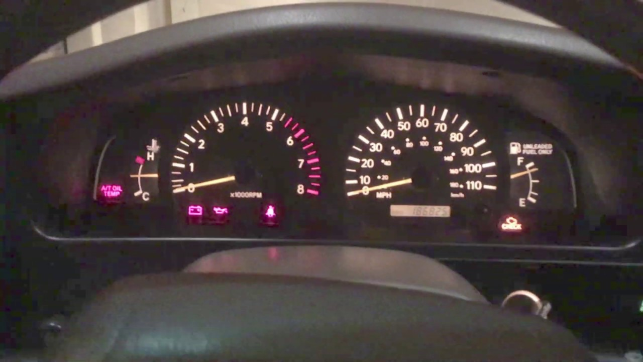 2000 Toyota Tacoma Dash Bulb Replacement With Generic Bulbs Youtube