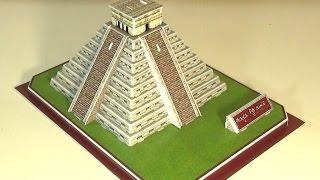 Макет из бумаги - Чичен-Ица - Пирамида племени Майя полная сборка из бумаги макета пирамиды
