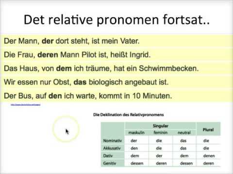 der på tysk