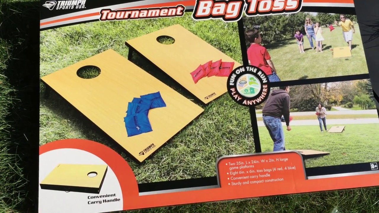 Triumph Sports Portable Tournament Bag Toss Travel Bago Cornhole Tailgate  And Yard Game