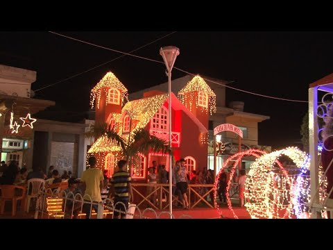 Festa Natalina movimenta comércio e praça de Euclides da Cunha.