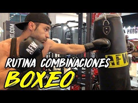 RUTINA ENTRENAMIENTO BOXEO || COMBINACIONES Y GOLPES AL SACO