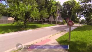 10 Cedar Valley Lakes Trail Iowa, Evansdale to Cedar Falls 2.7K Bike Helmet POV