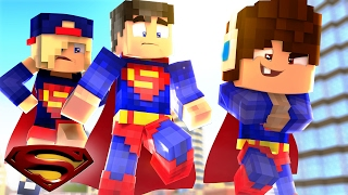 Minecraft: WHO'S YOUR FAMILY? - O BEBÊ DO SUPER MAN E DA SUPER GIRL APRENDEU A VOAR!
