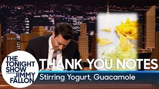 Thank You Notes: Stirring Yogurt, Guacamole thumbnail