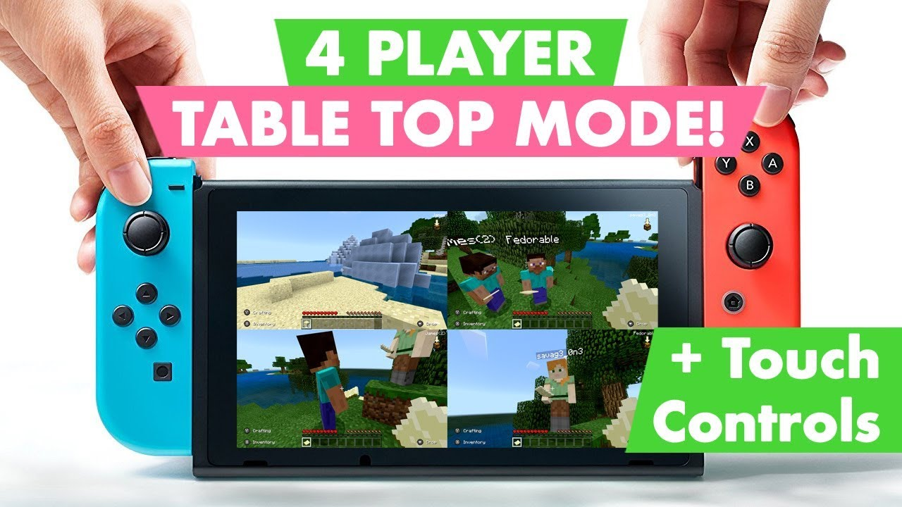 MINECRAFT in Table Top Mode - 4 Player Test (Nintendo Switch)