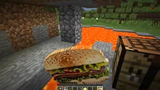 Minecraft Modlu Survival Bölüm 1 Sesli Video  Hamburger Modu