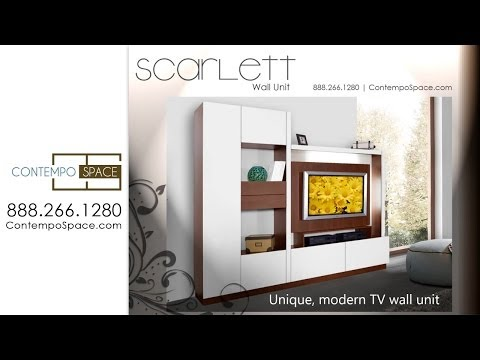 Scarlett Wall Unit - Unique Asymmetric Wall Unit Design   Item #: 2855