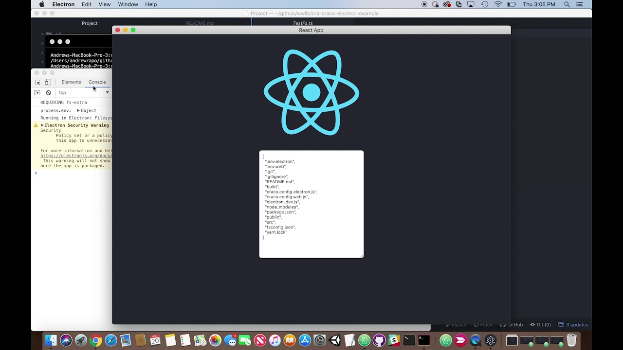 Using Create-React-App + Craco + Typescript to build apps for both
