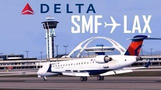 [FSX] Delta Airlines Sacramento to Los Angeles