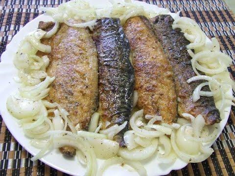 Очень вкусная жаренная рыба.  Как лучше пожарить скумбрию.