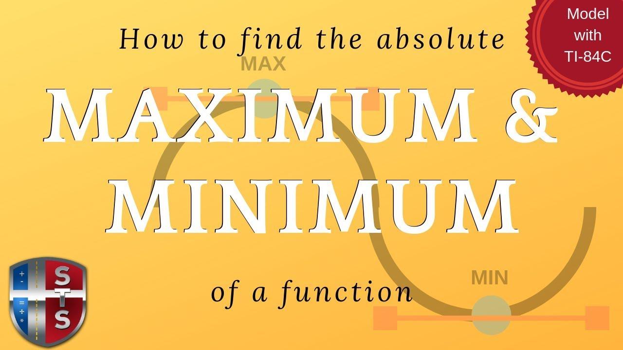 calculus derivative absolute maximum and minimum. Black Bedroom Furniture Sets. Home Design Ideas