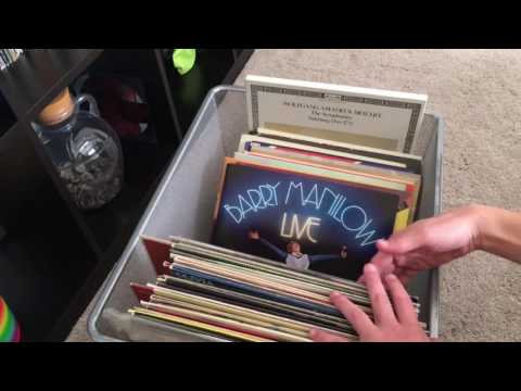 Record collection from my uncles mom and storing the records timelapse