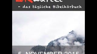 Bibellese 05.11.2015: Hesekiel 12,1-14,11 // Hebräer 7,1-17 // Psalm 105,37-45 // Sprüche 27,3