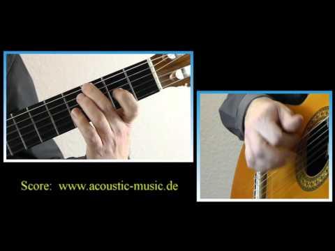 Balada espanola - an easy guitar tutorial & score ♫♫