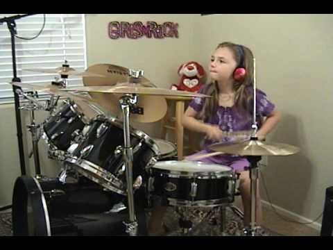 """ACDC """"Who Made Who  92"""" a Drum Cover by Emily"""