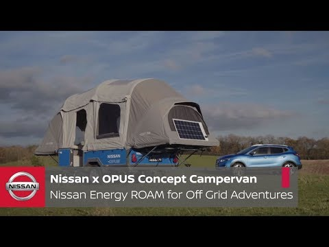 Nissan gives the Opus inflatable camping trailer a week of off-grid adventure power
